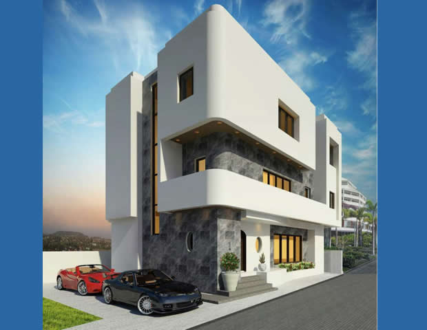 An Exquisitely Built 6 Units of Super Luxury 5 Bedroom Fully Detached House With A BQ Each.
